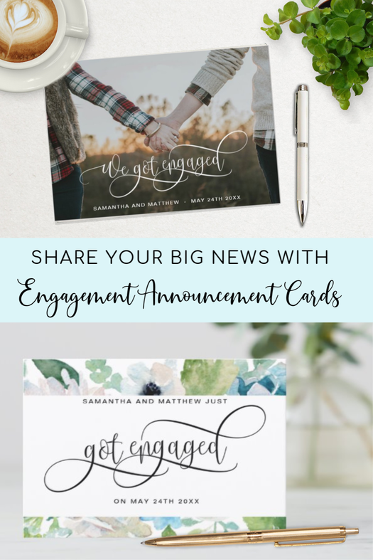 Got Engaged Announcement Cards